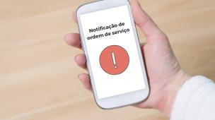 Notificação de ordem de serviço no smartphone